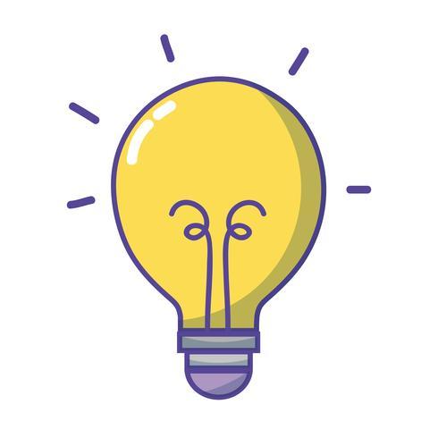 icona dell'oggetto lampadina energia