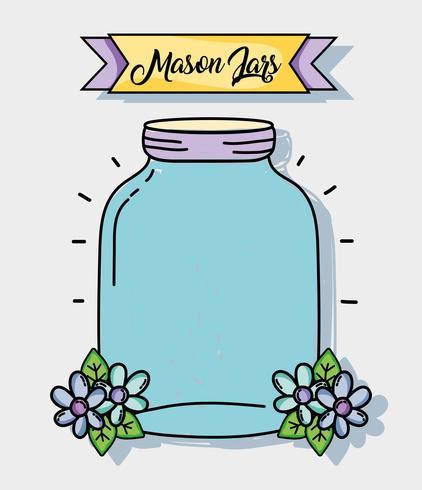 Einmachglas im rustikalen Stil bewahren