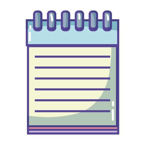 Cuaderno de papel objeto de diseño para escribir. vector