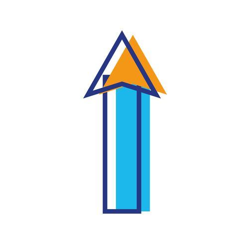 color web arrow up load icon