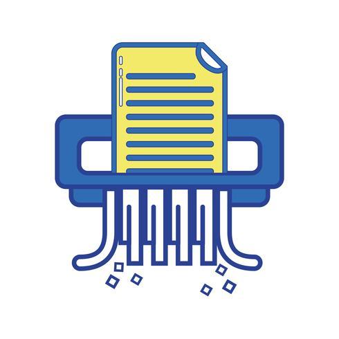 kontorspapper shredder maskin design