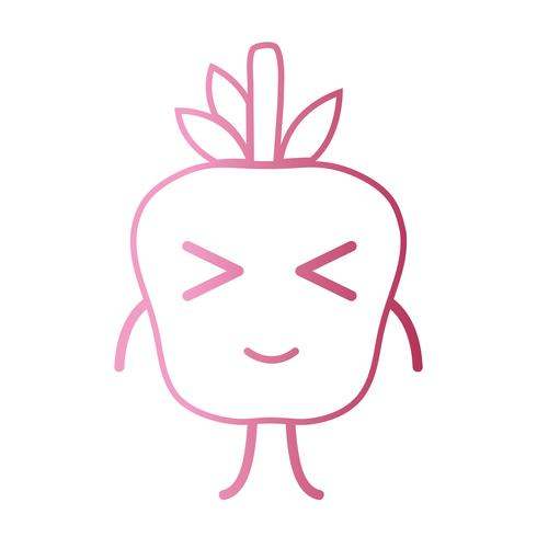 line kawaii cute happy apple fruit