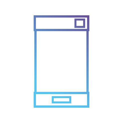Linie Smartphone elektronische Technologie zu kommunizieren