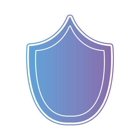 Escudo de seguridad de línea protege símbolo vector