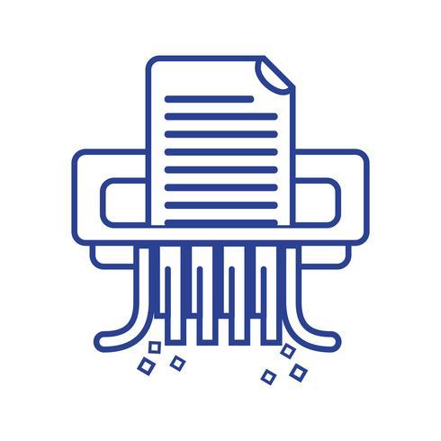 linje kontor papper shredder maskin design