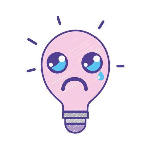 idéia de bulbo chorando bonito kawaii vetor