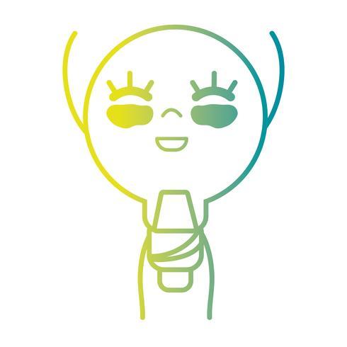 line kawaii cute happy bulb energy