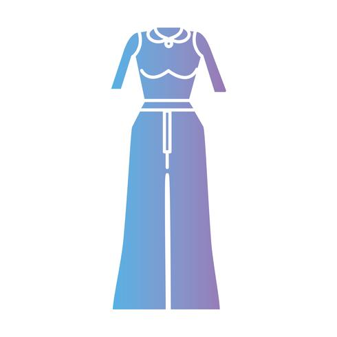 silhouette woman clothes style design