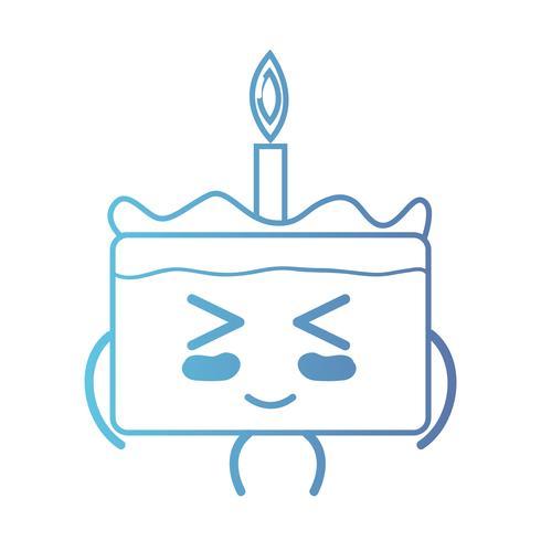 lijn schattig gelukkig zoete cake