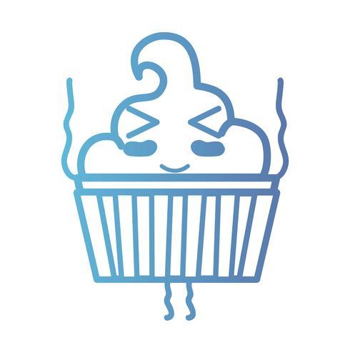 line kawaii cute happy sweet muffin