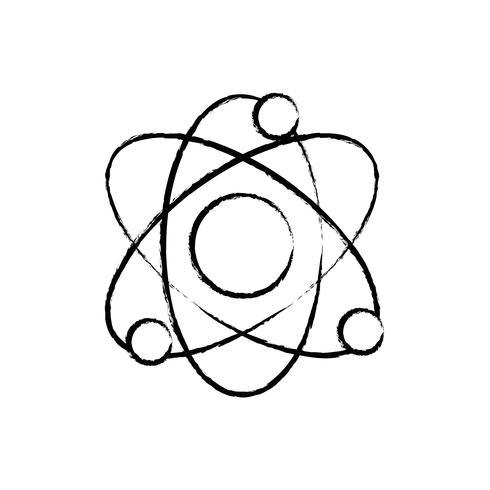 Figura física átomo órbita a la educación química vector