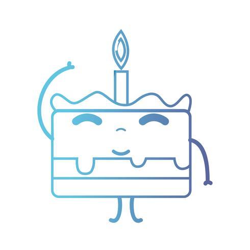 Linie süß glücklich süßer Kuchen