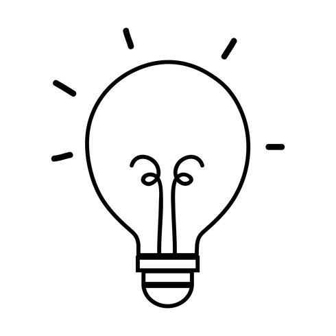 linje lampa energi objekt ikon