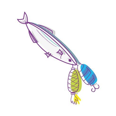 oggetto filatore di pesce che morde per catturarlo