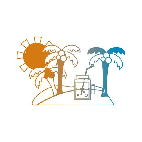 linea spiaggia estiva e paradiso tropicale