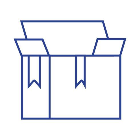 Line Box Paket Objekt offenes Design