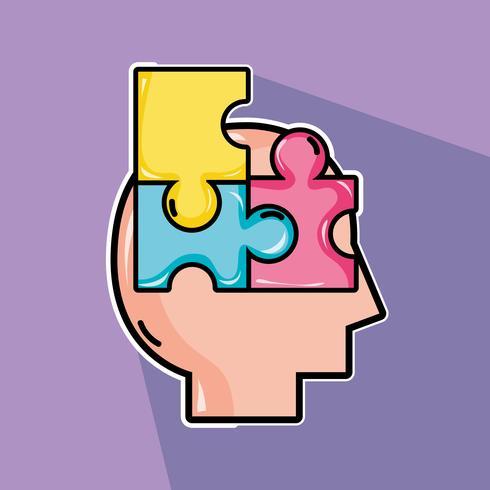 psychology treatment to analysis mental problem vector