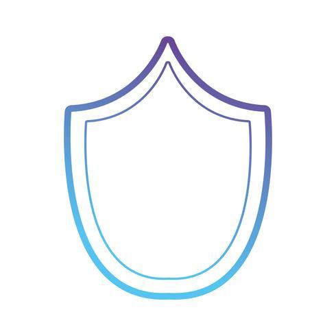 ligne symbole de protection bouclier de sécurité