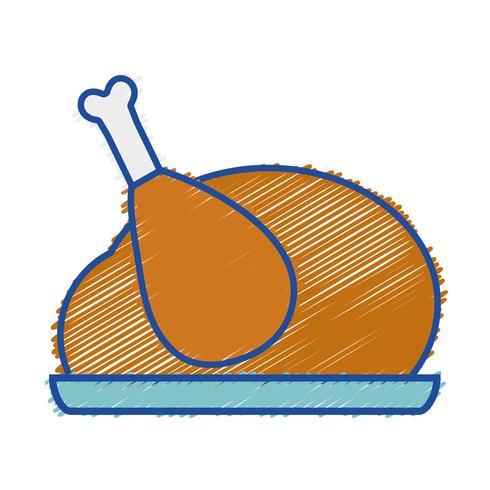 geraspte heerlijke kip eten gebraden smaak
