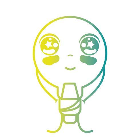 linea kawaii carina felice lampadina energia
