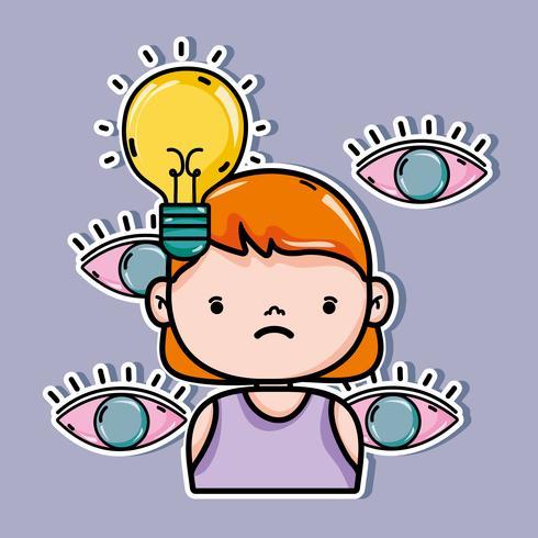 tratamento psicológico para análise do problema mental vetor