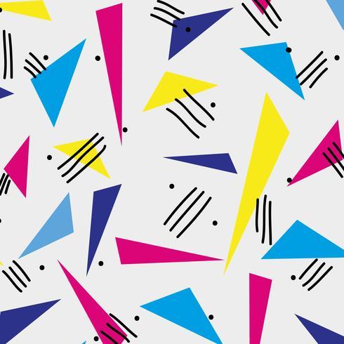 Estilo memphis con diseño geométrico en color. vector