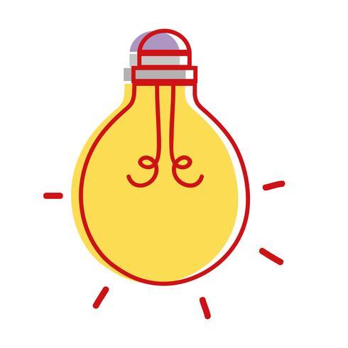 icono de objeto de energía bombilla
