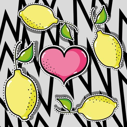 delicious tropical patches fruit design