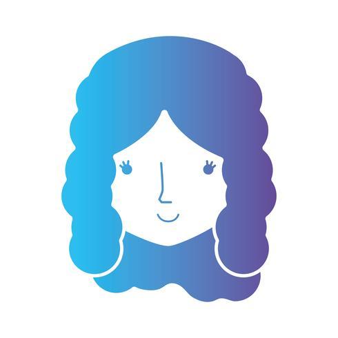 linha avatar mulher cabeça com penteado