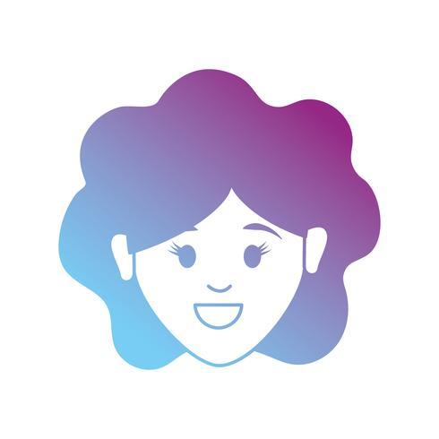 linea avatar donna con design acconciatura