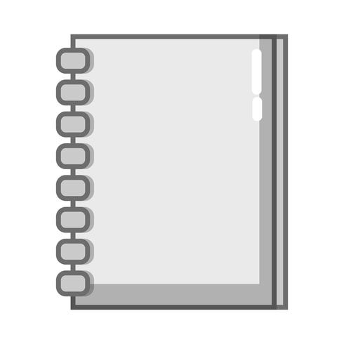 Cuaderno de escala de grises documentos objeto de diseño para escribir