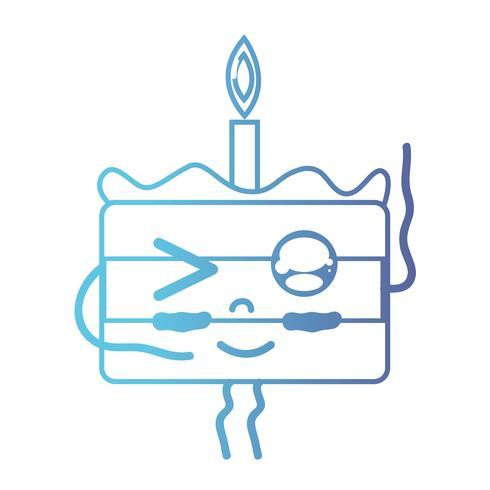 line cute happy sweet cake