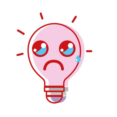 kawaii cute crying bulb idea