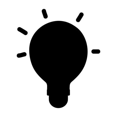 ícone de objeto de energia de contorno lâmpada