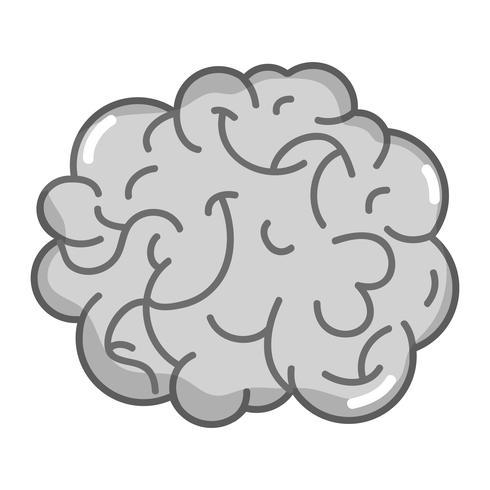 anatomia do cérebro humano em tons de cinza para criativo e intelecto