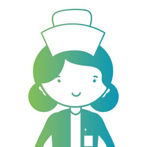 linea donna infermiera con design uniforme e acconciatura