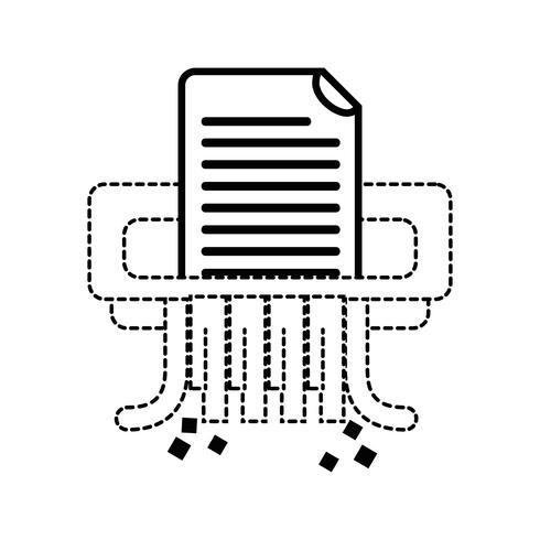 dotted shape office paper shredder machine design