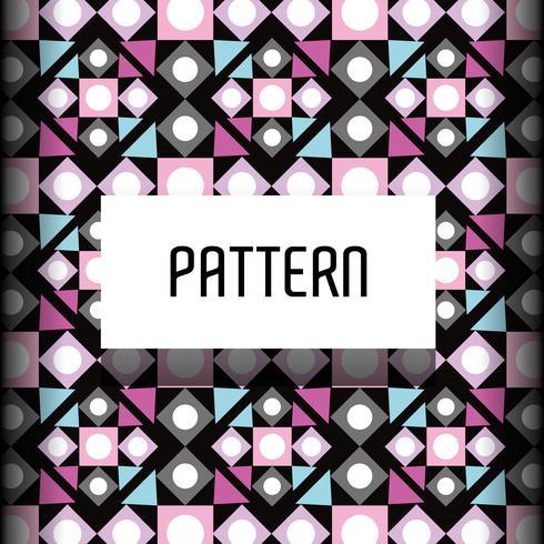 diseño abstracto geométrico inconsútil del fondo vector