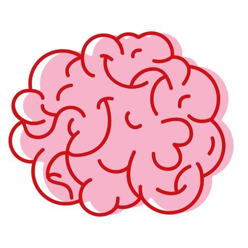 Anatomía del cerebro humano a creativo e intelecto.