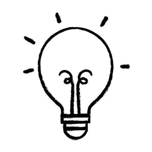 figura bombilla de luz icono de objeto de energía