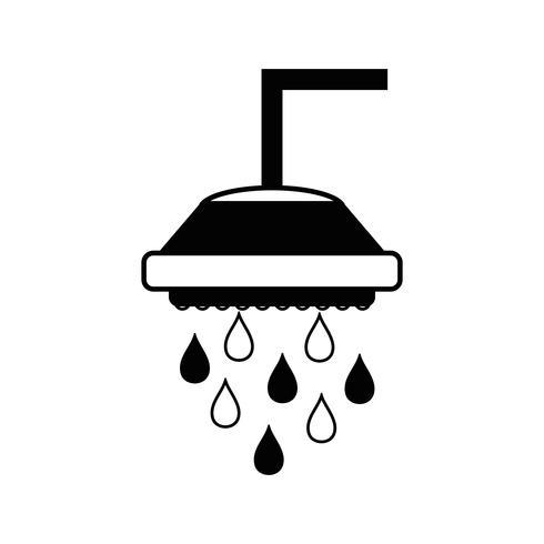 contour tube de plomberie douche avec gouttes d'eau
