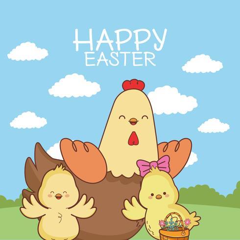 Glad påskkort