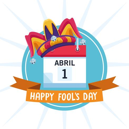 Happy fools day vector