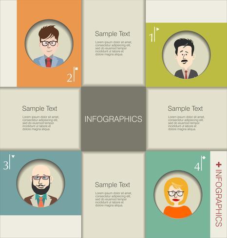 Remue-méninges de business concept moderne design infographique vecteur
