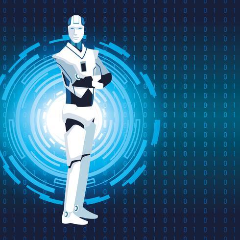 robot humanoide avatar vector