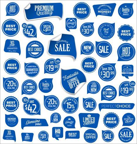 Insignias modernas pegatinas y etiquetas de colección
