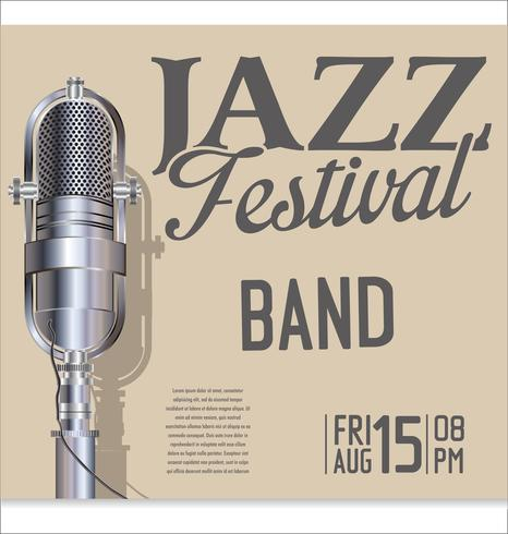 Jazzfestivalvektorillustration