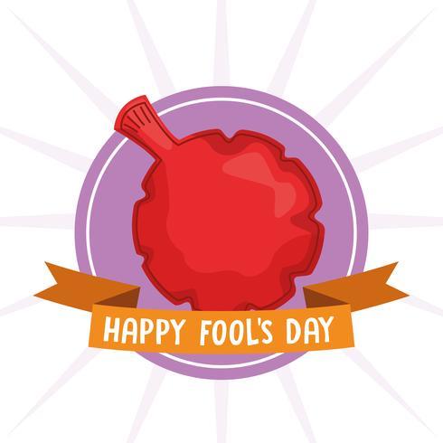 Happy fools day vector