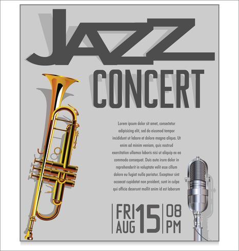 Ilustración de vector festival de jazz