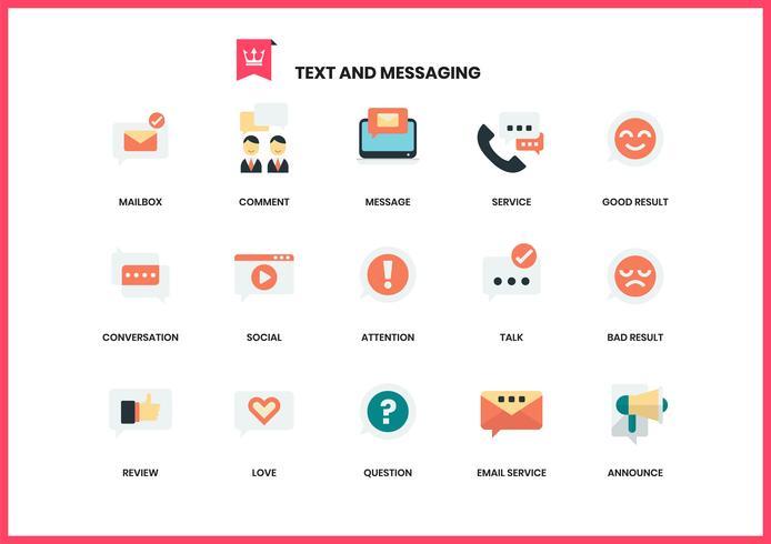 Iconos de texto establecidos para los negocios vector